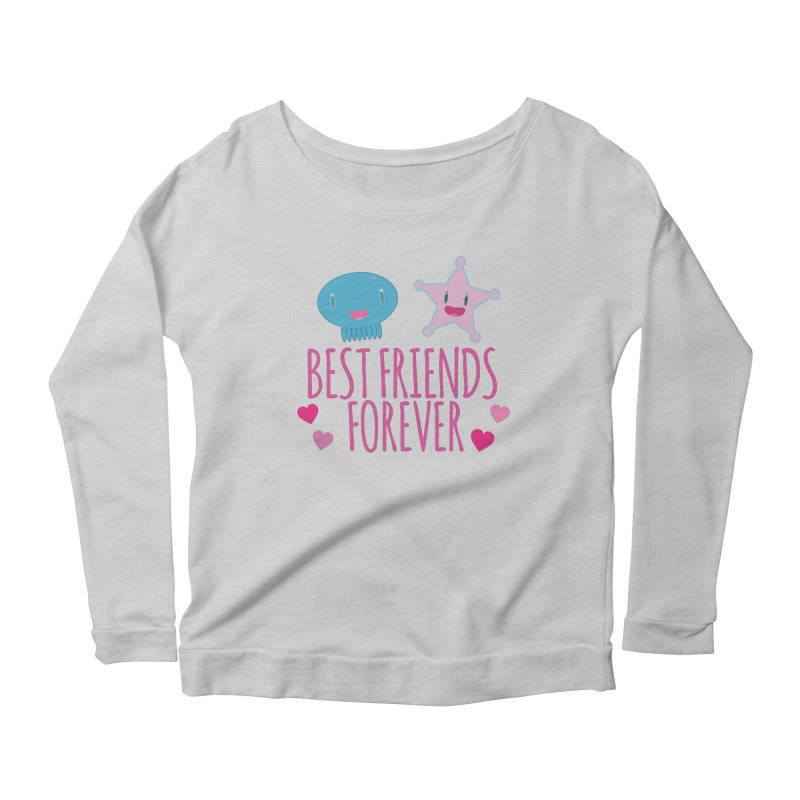 Best Friends Forever Women's Scoop Neck Longsleeve T-Shirt by Jellywishes