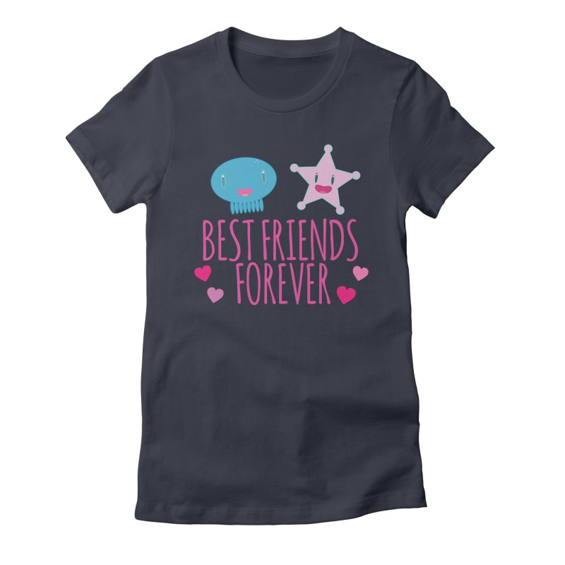 Best Friends Forever Women's Fitted T-Shirt by Jellywishes