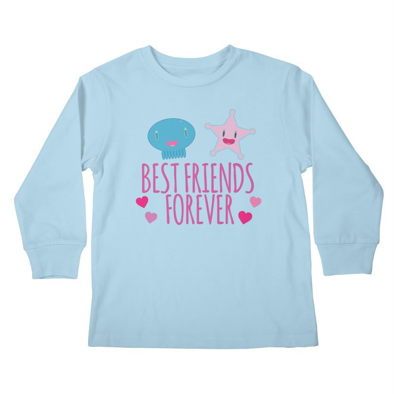 Best Friends Forever Kids Longsleeve T-Shirt by Jellywishes