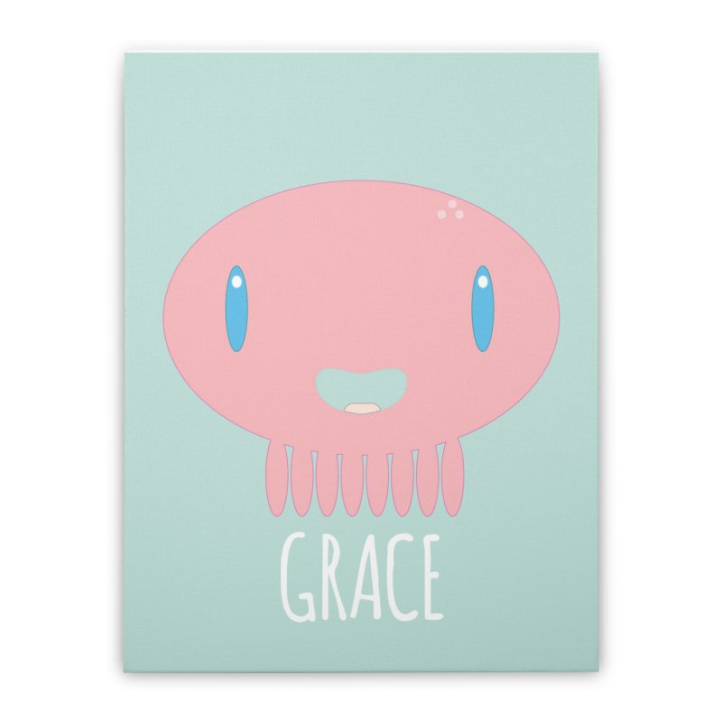 Grace Home Stretched Canvas by Jellywishes