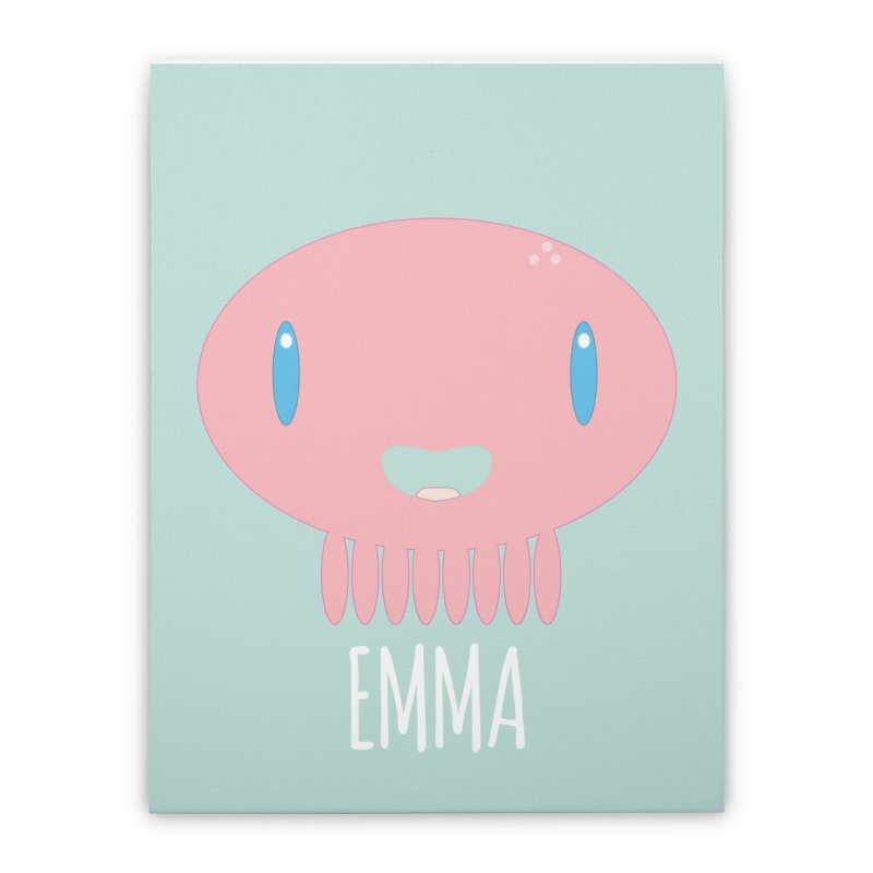 Emma Home Stretched Canvas by Jellywishes