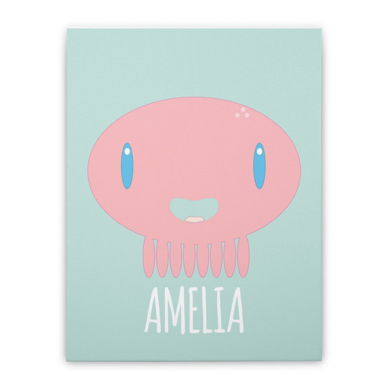 Amelia Home Stretched Canvas by Jellywishes