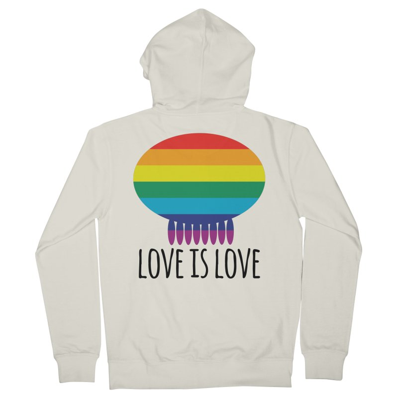 Love is Love Women's French Terry Zip-Up Hoody by Jellywishes