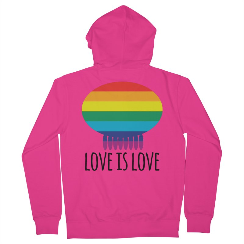 Love is Love Men's French Terry Zip-Up Hoody by Jellywishes