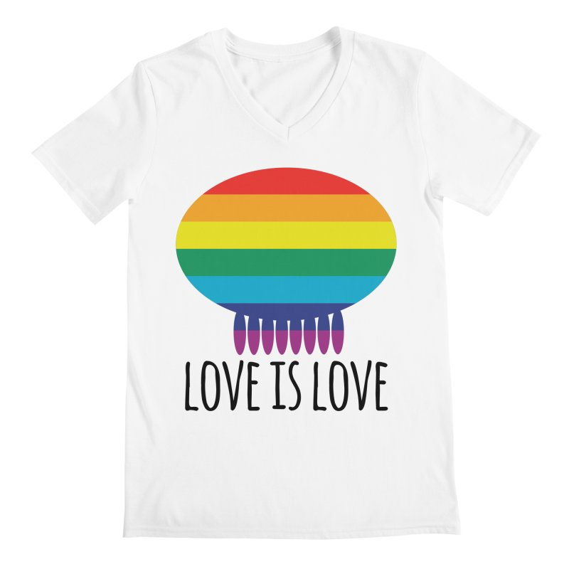 Love is Love Men's V-Neck by Jellywishes