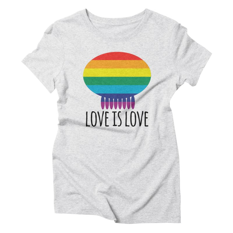 Love is Love Women's Triblend T-Shirt by Jellywishes