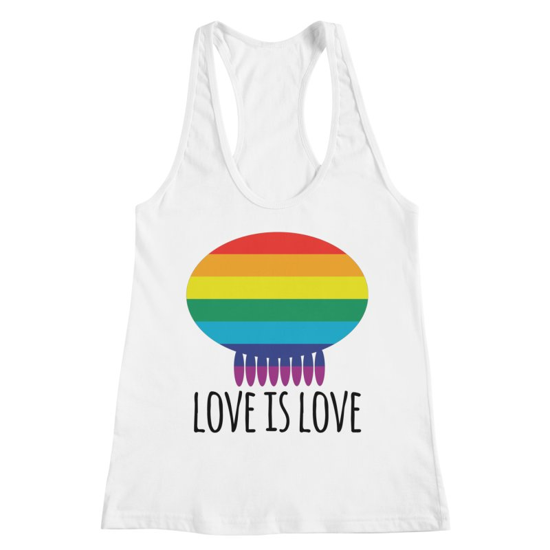 Love is Love Women's Racerback Tank by Jellywishes