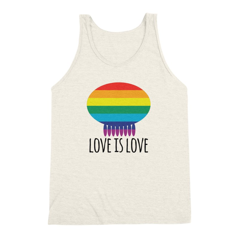 Love is Love Men's Triblend Tank by Jellywishes