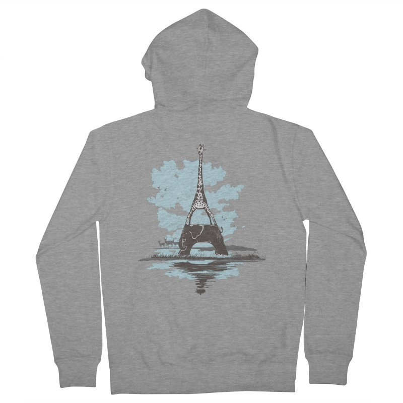 From Paris to Africa Women's Zip-Up Hoody by Jemae's Design