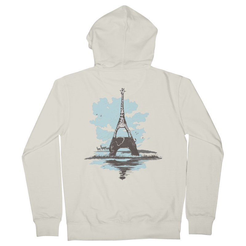 From Paris to Africa Men's Zip-Up Hoody by Jemae's Design
