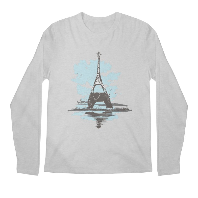 From Paris to Africa Men's Longsleeve T-Shirt by Jemae's Design