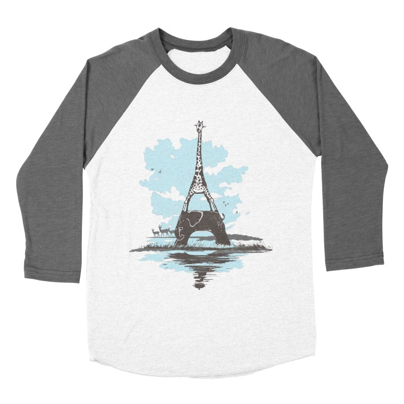 From Paris to Africa Women's Baseball Triblend T-Shirt by Jemae's Design