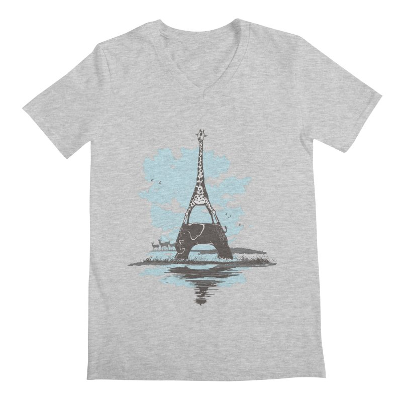 From Paris to Africa Men's V-Neck by Jemae's Design