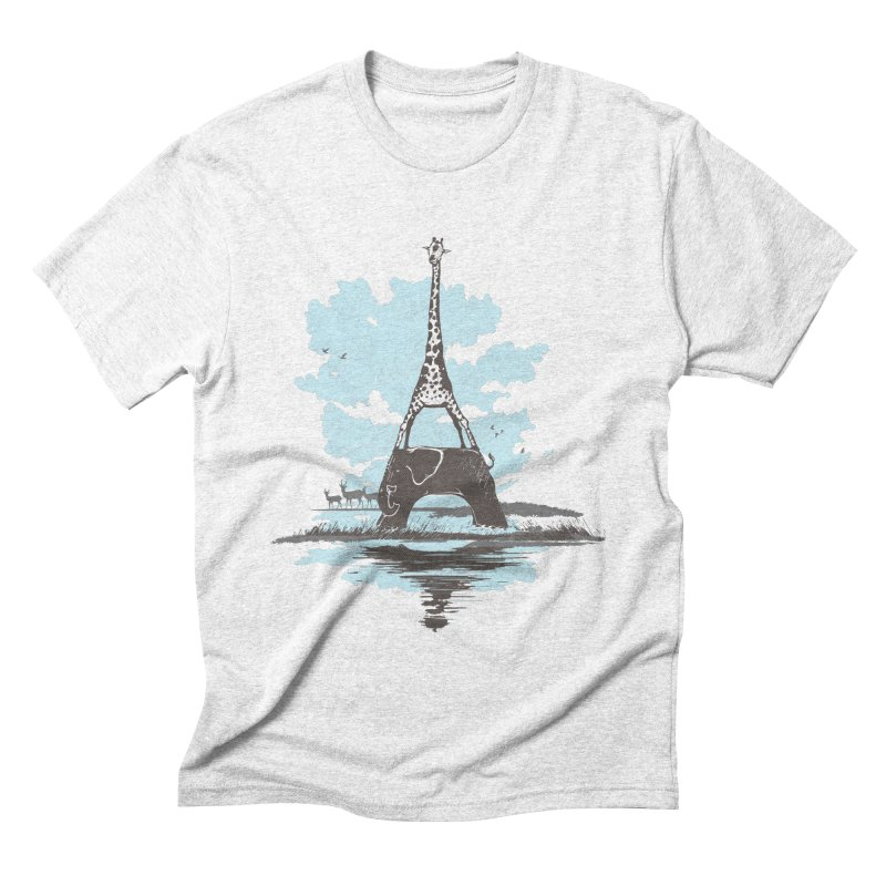 From Paris to Africa Men's Triblend T-shirt by Jemae's Design