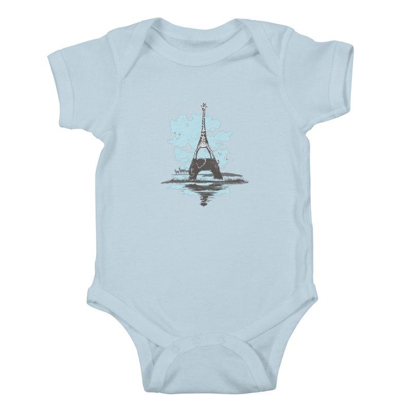 From Paris to Africa Kids Baby Bodysuit by Jemae's Design
