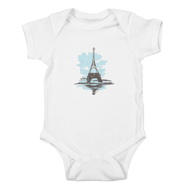 From Paris to Africa Kids Baby Bodysuit by Jemae's Design