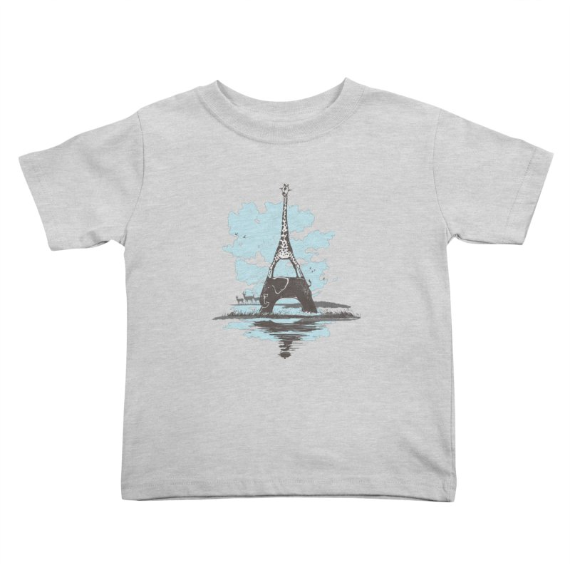 From Paris to Africa Kids Toddler T-Shirt by Jemae's Design