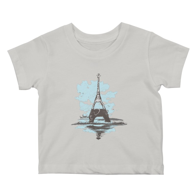 From Paris to Africa Kids Baby T-Shirt by Jemae's Design