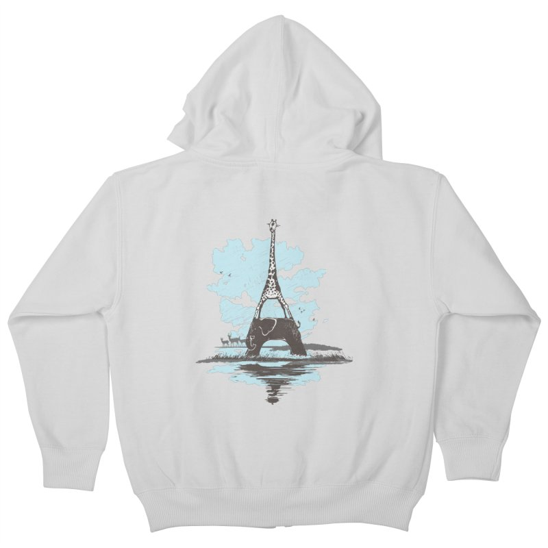 From Paris to Africa Kids Zip-Up Hoody by Jemae's Design