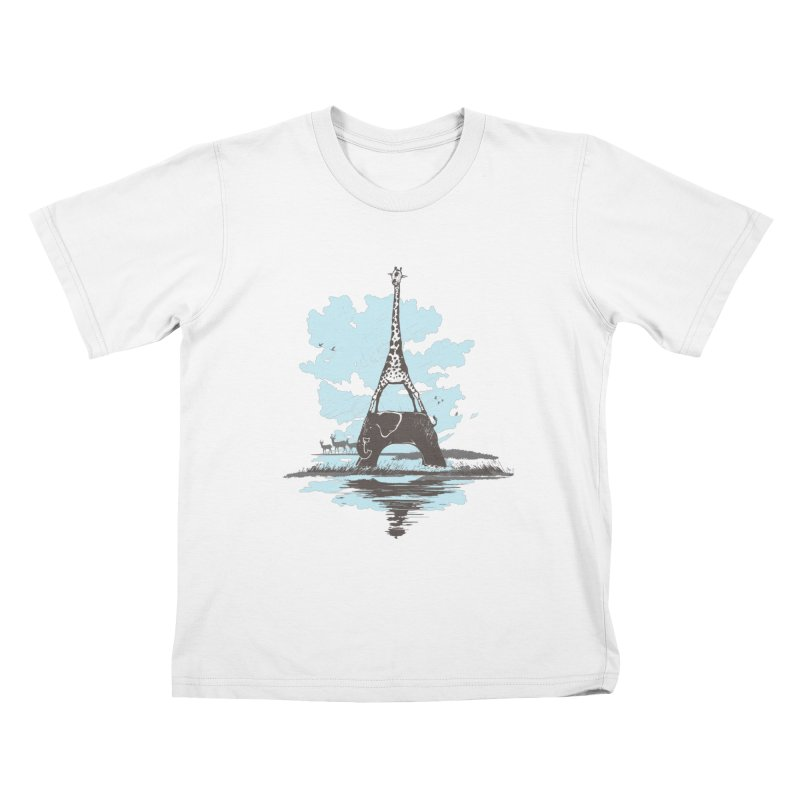 From Paris to Africa Kids T-shirt by Jemae's Design
