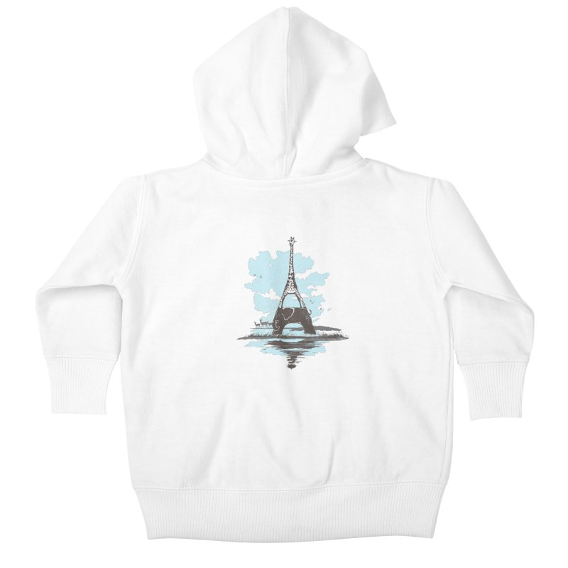 From Paris to Africa Kids Baby Zip-Up Hoody by Jemae's Design