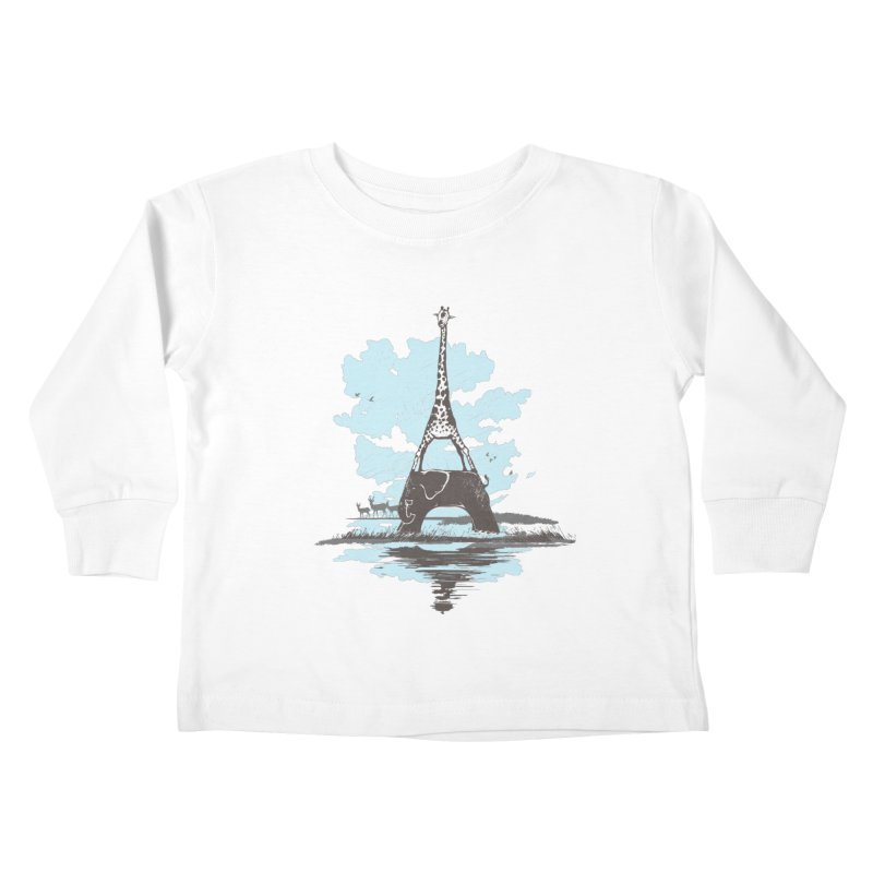 From Paris to Africa Kids Toddler Longsleeve T-Shirt by Jemae's Design