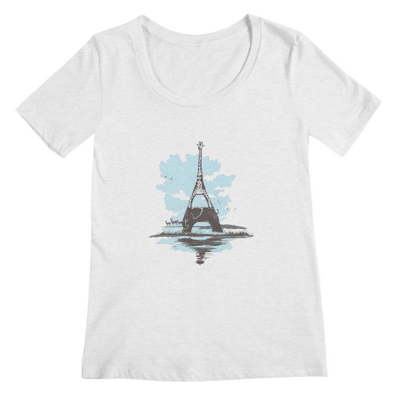 From Paris to Africa Women's Scoopneck by Jemae's Design
