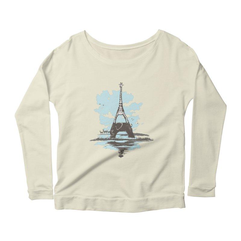 From Paris to Africa Women's Longsleeve Scoopneck  by Jemae's Design