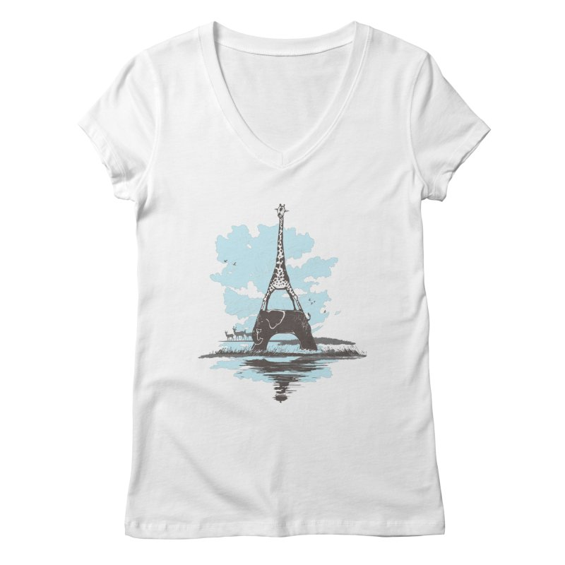 From Paris to Africa Women's V-Neck by Jemae's Design