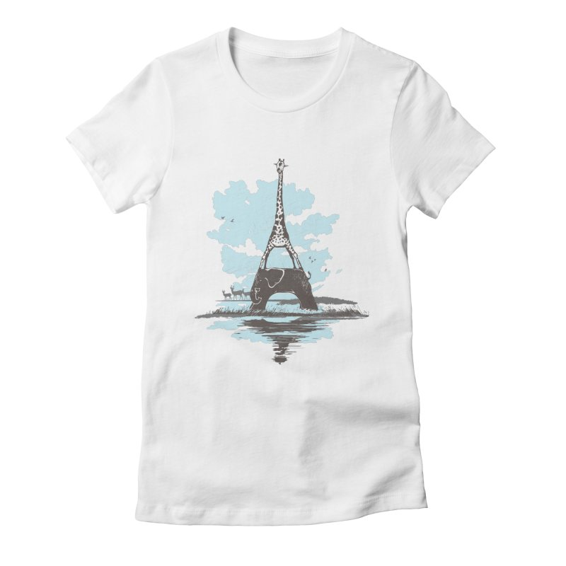 From Paris to Africa Women's Fitted T-Shirt by Jemae's Design