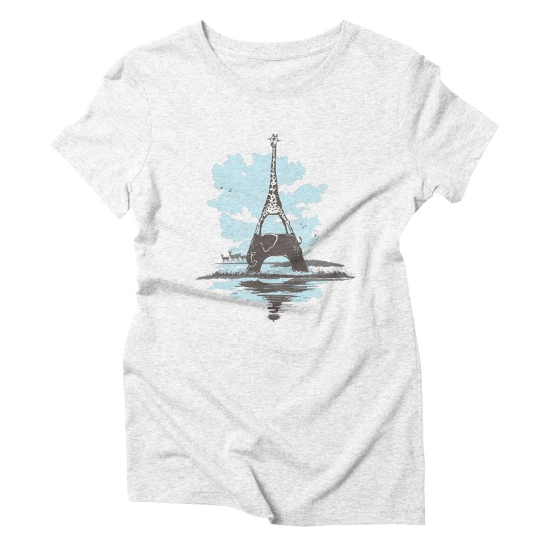 From Paris to Africa Women's Triblend T-shirt by Jemae's Design