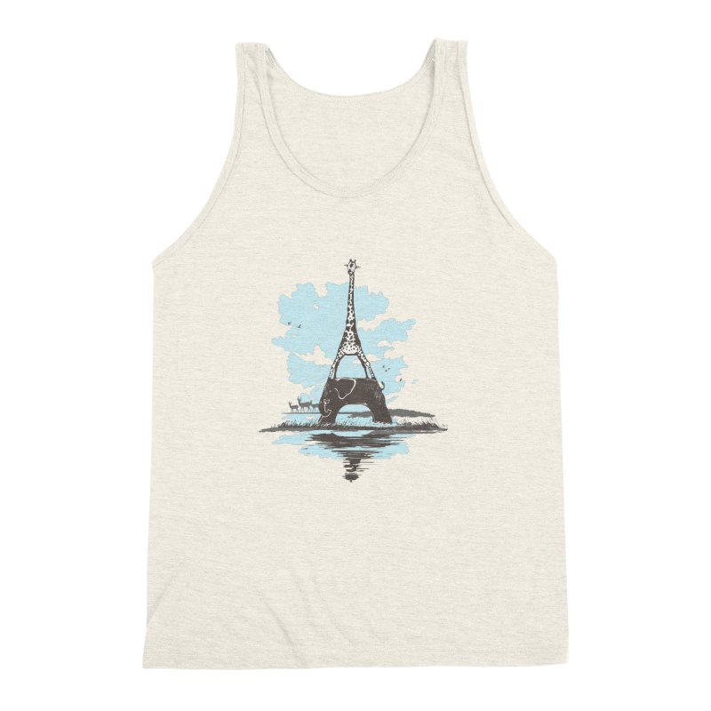 From Paris to Africa Men's Triblend Tank by Jemae's Design
