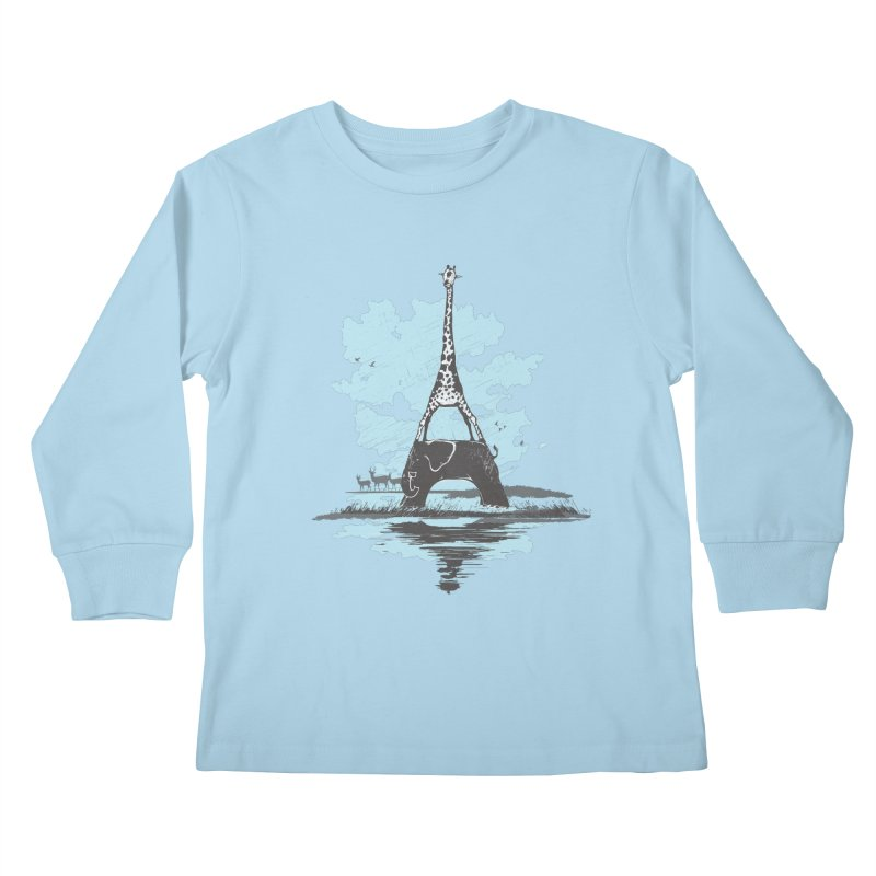 From Paris to Africa Kids Longsleeve T-Shirt by Jemae's Design