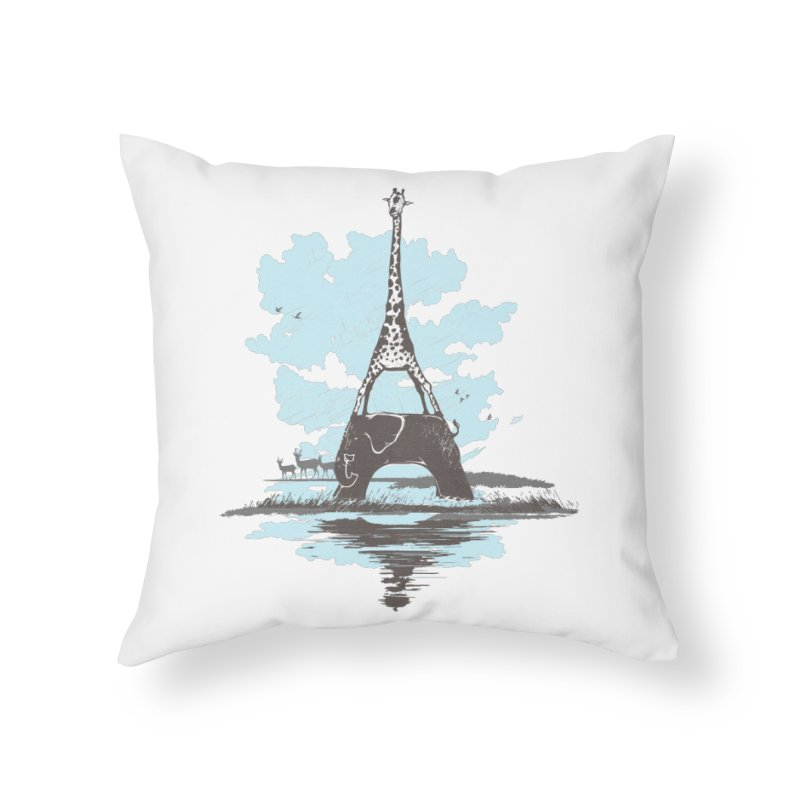 From Paris to Africa Home Throw Pillow by Jemae's Design
