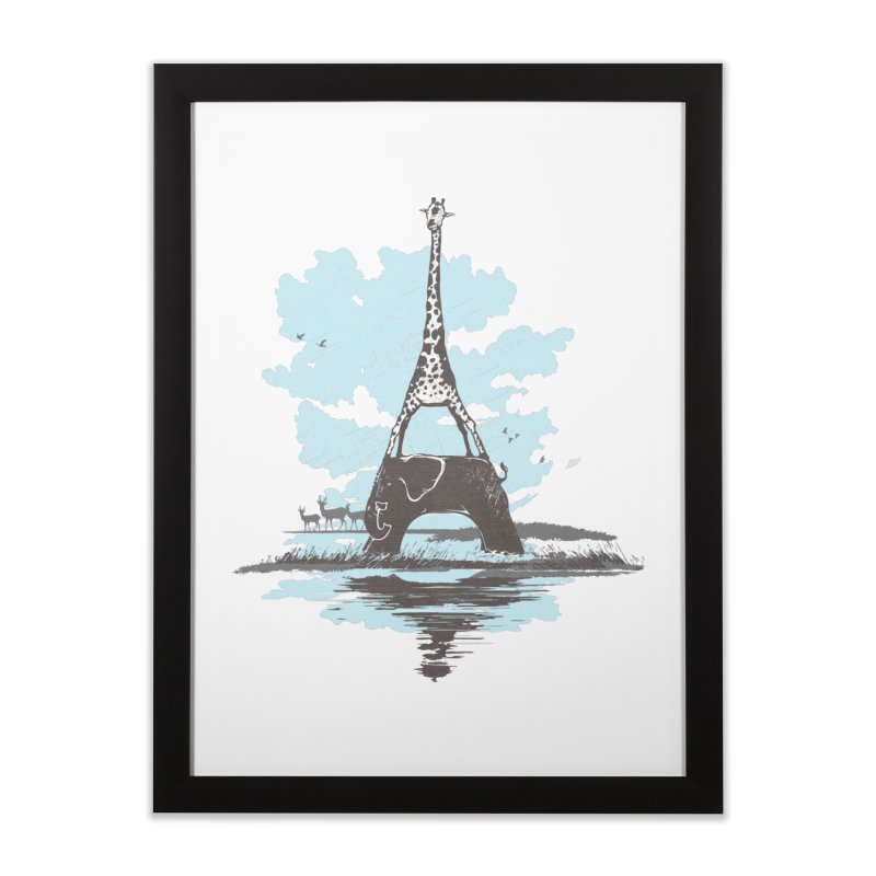 From Paris to Africa Home Framed Fine Art Print by Jemae's Design