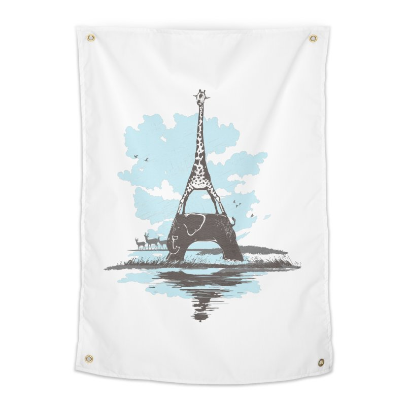 From Paris to Africa Home Tapestry by Jemae's Design