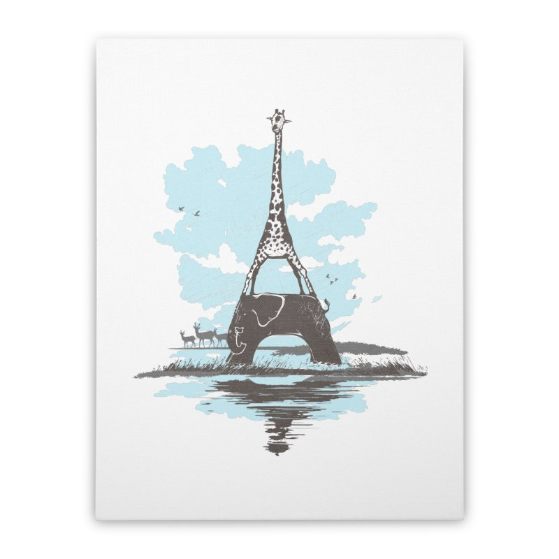 From Paris to Africa Home Stretched Canvas by Jemae's Design