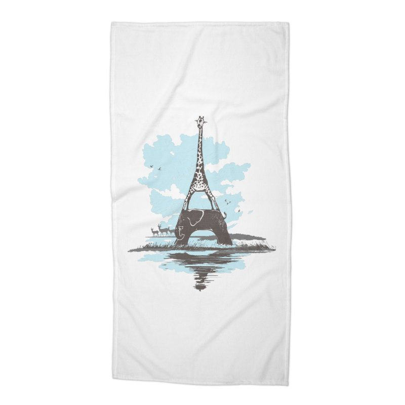 From Paris to Africa Accessories Beach Towel by Jemae's Design