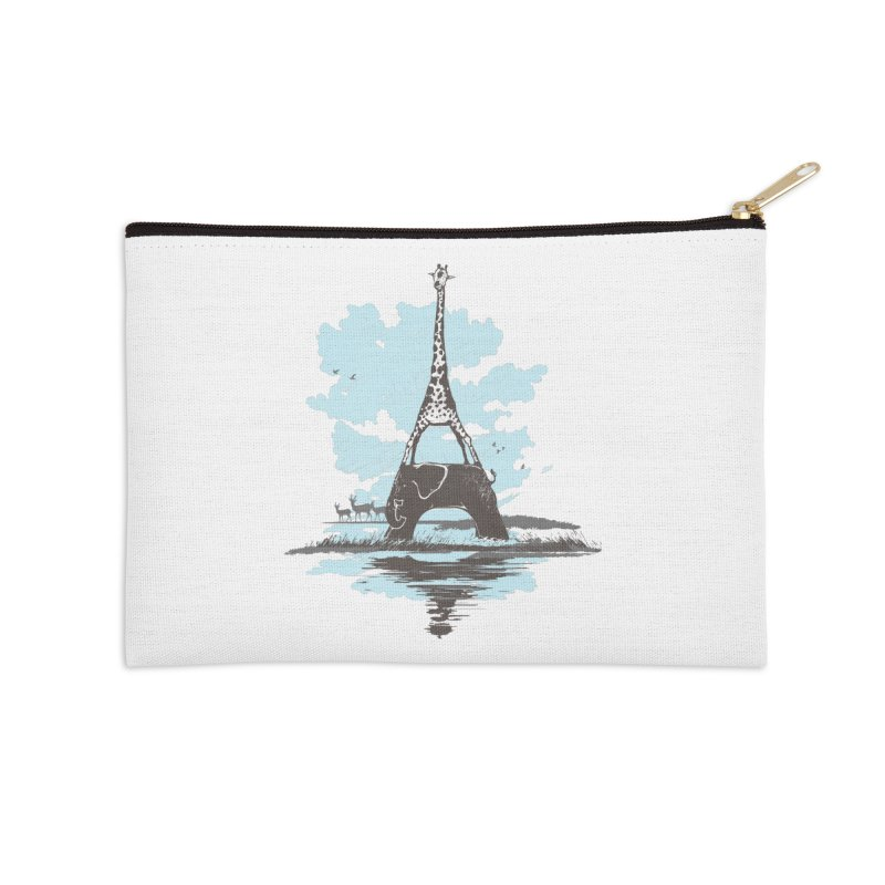 From Paris to Africa Accessories Zip Pouch by Jemae's Design