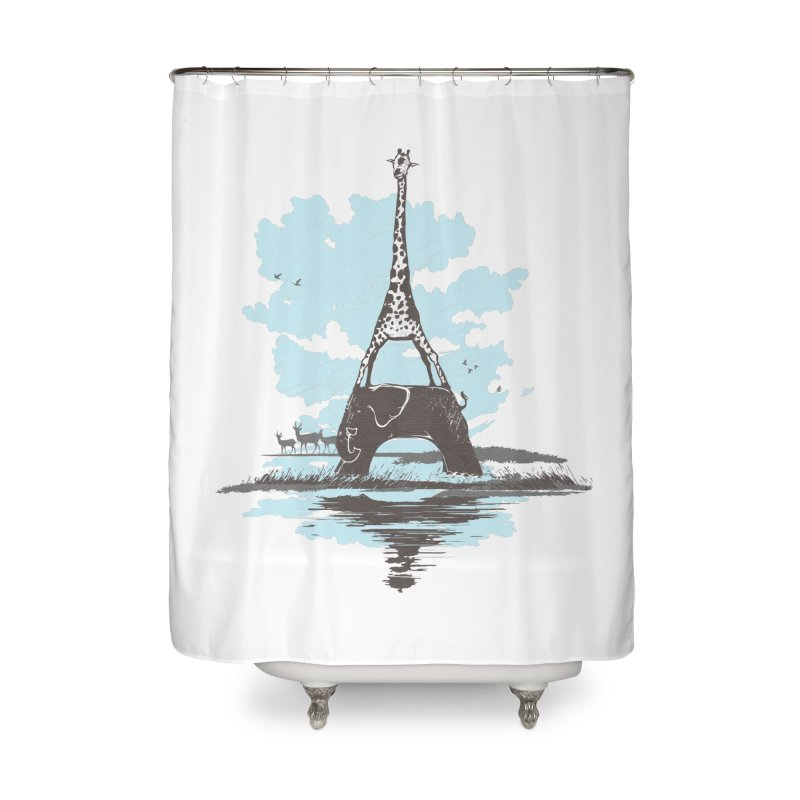 From Paris to Africa Home Shower Curtain by Jemae's Design