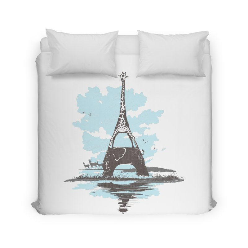 From Paris to Africa Home Duvet by Jemae's Design