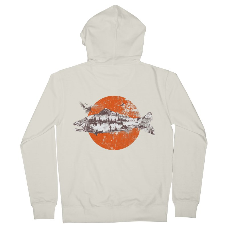 The Mountains Are Calling Men's Zip-Up Hoody by Jemae's Design