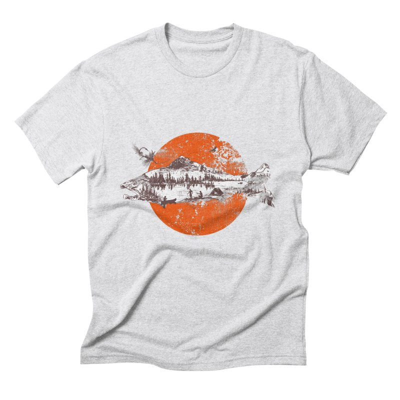 The Mountains Are Calling Men's Triblend T-Shirt by Jemae's Design