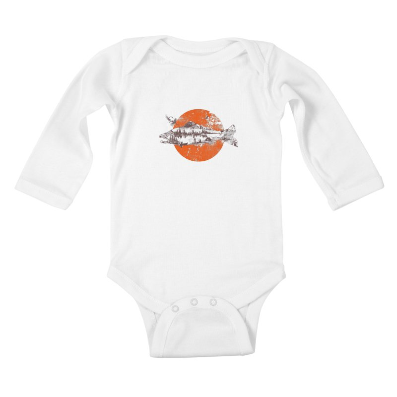 The Mountains Are Calling Kids Baby Longsleeve Bodysuit by Jemae's Design