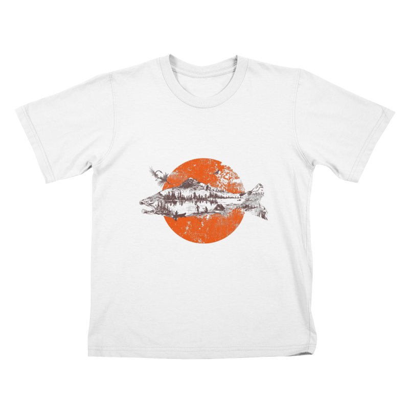 The Mountains Are Calling Kids T-shirt by Jemae's Design