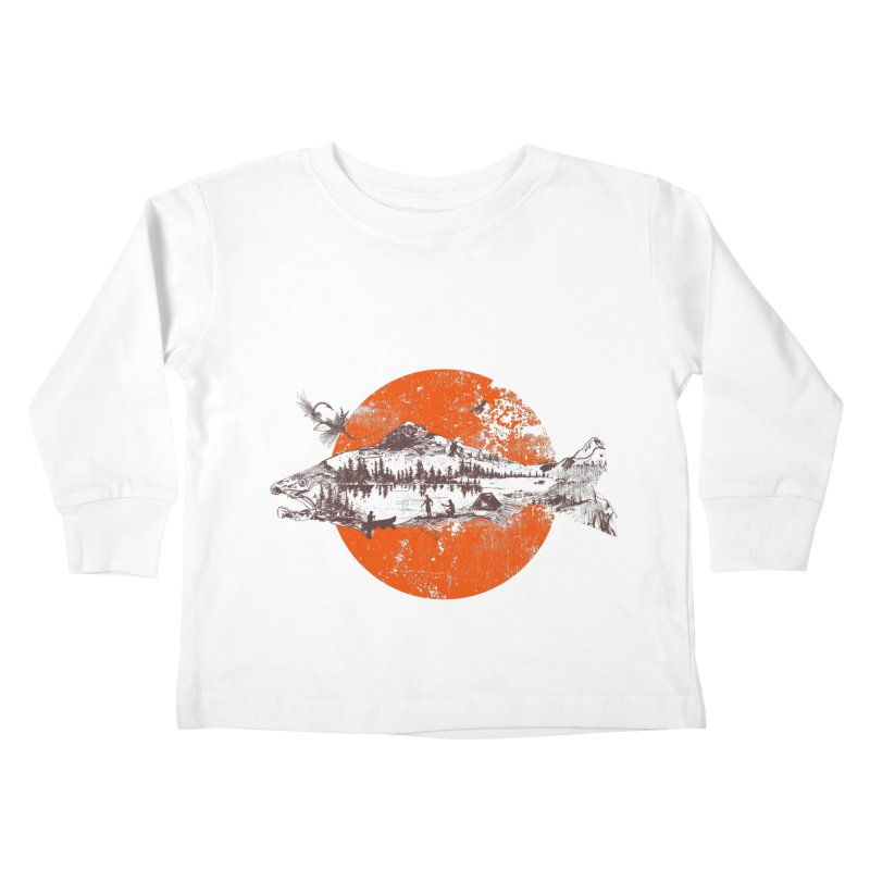 The Mountains Are Calling Kids Toddler Longsleeve T-Shirt by Jemae's Design