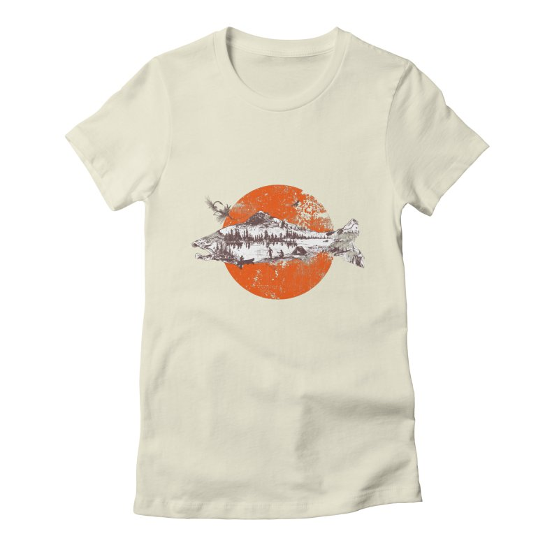 The Mountains Are Calling Women's Fitted T-Shirt by Jemae's Design