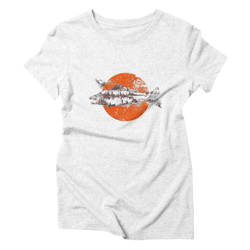 The Mountains Are Calling Women's Triblend T-shirt by Jemae's Design
