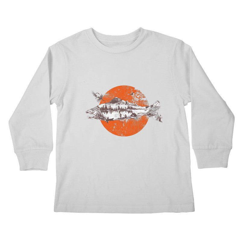 The Mountains Are Calling Kids Longsleeve T-Shirt by Jemae's Design