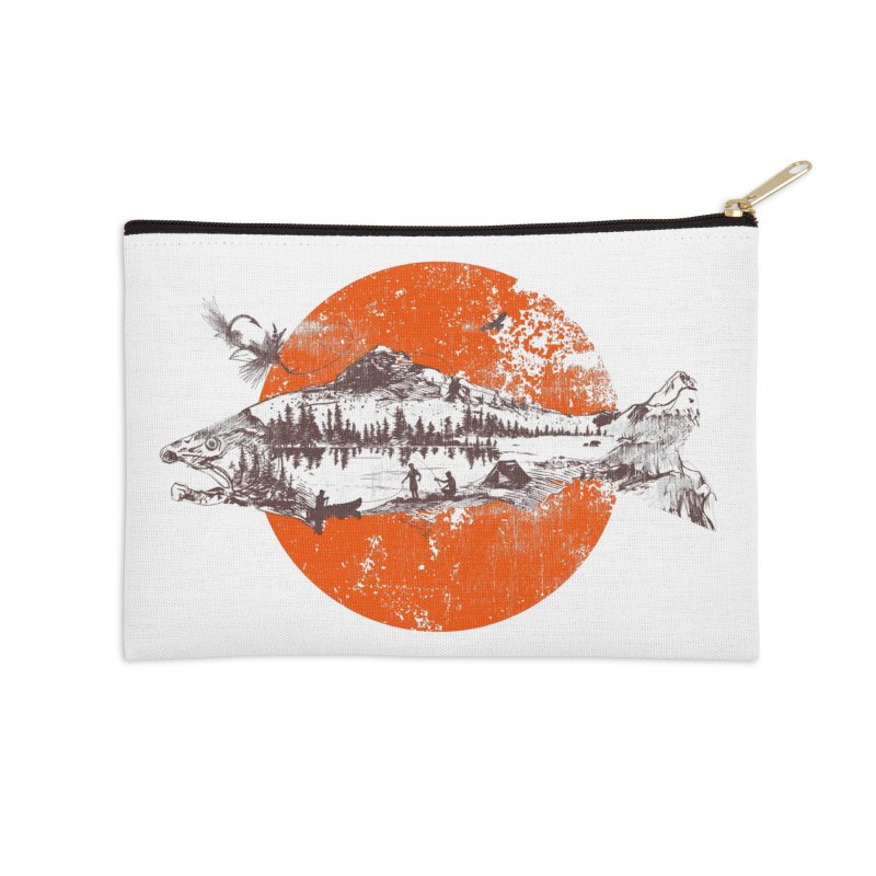 The Mountains Are Calling Accessories Zip Pouch by Jemae's Design